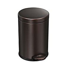 bathroom wastebasket. image of Simple Human 4 5 Liter Step Can in Dark Bronze Bath Cans  Trash Wastebasket On more Bed