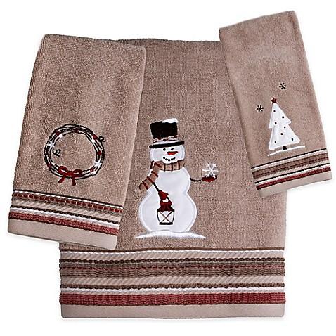 rustic christmas hand towel bed bath beyond. Black Bedroom Furniture Sets. Home Design Ideas