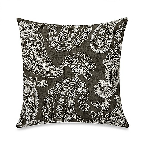 Wamsutta 174 Vintage Paisley Linen 16 Inch Square Throw