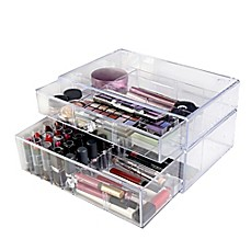 image of Lori Greiner® Clear Stacking Cosmetic Organizer