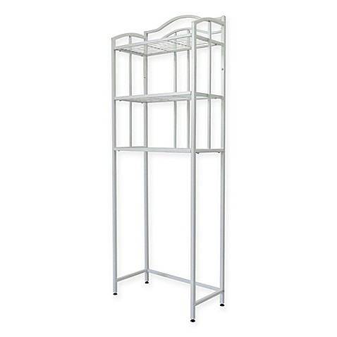 buy grayson 3 shelf space saver tower in white from bed bath beyond