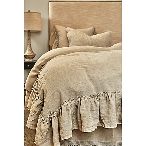 Amity Home Karina Ruffled Linen Duvet Cover Bed Bath
