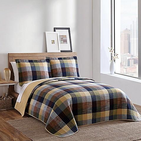 Brooklyn loom kent yarn dyed quilt bed bath beyond for Brooklyn loom bedding