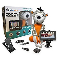 image of Zooby by InfantTech Zebra Car and Home Baby Monitor