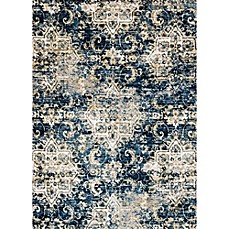 image of Loloi Rugs Torrance Medallions Rug in Navy/Ivory