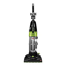 image of BISSELL® PowerTrak Compact Upright Vacuum Cleaner in Black/Lime