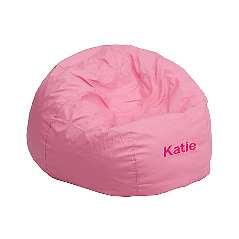 flash furniture personalized kids small bean bag chair in pink bed bath beyond. Black Bedroom Furniture Sets. Home Design Ideas