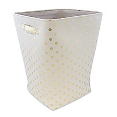 image of Closet Complete Large Canvas Hamper in Metallic Gold