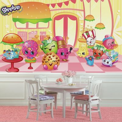 RoomMates Shopkins XL Prepasted Wall Mural Bed Bath Beyond