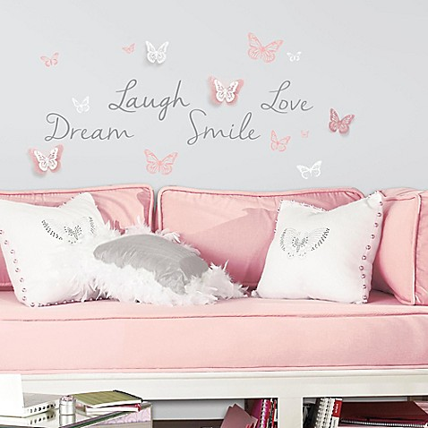 Butterfly Dream Peel And Stick Wall Decals With 3d Cutout