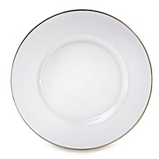 platinum rimmed 13inch glass charger plate