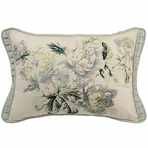Buy Waverly Fleuretta 14-Inch x 22-Inch Rectangle Throw Pillow in Spring from Bed Bath & Beyond