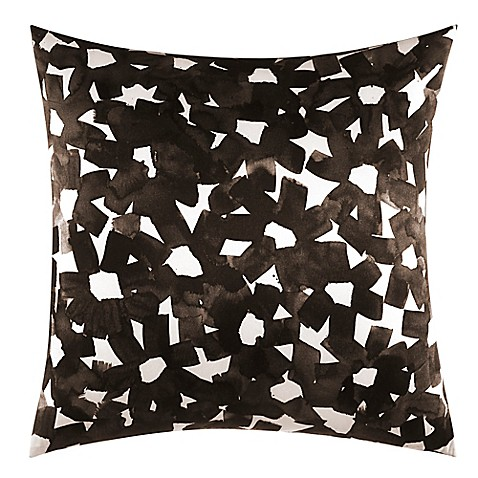 Throw Pillows One Kings Lane : kate spade new york Inky Floral Square Throw Pillow in Black - Bed Bath & Beyond