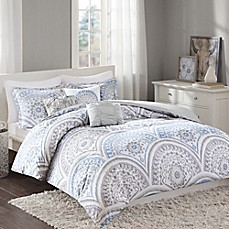 image of Regency Heights Matti Duvet Cover Set in Blue