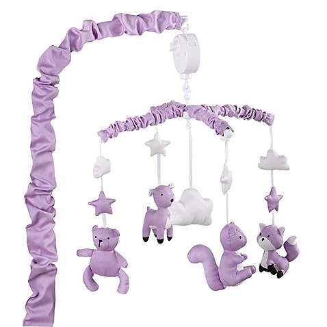 purple bedrooms pictures the peanut shell 174 woodland musical mobile in purple bed 12978