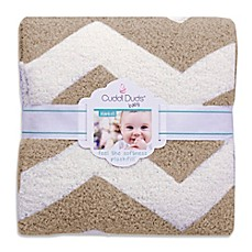 image of Cuddl Duds® 30-Inch x 30-Inch Chevron Plush Knit Baby Blanket