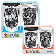 image of Tervis® Wedding Bride and Groom Chalkboard Wrap Tumbler with Lid
