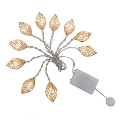 String Lights Leaves : Loft Living 10-foot Decorative Novelty Leaves String Lights in Copper - Bed Bath & Beyond