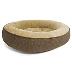 image of Pawslife™ Dunkin Large Warming Pet Bed in Brown