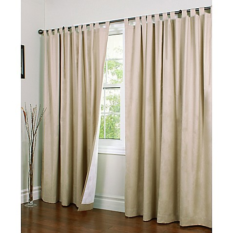 Thermalogic Weathermate 84 Inch Double Width Tab Top Window Curtain Panel Pair Bed Bath Beyond