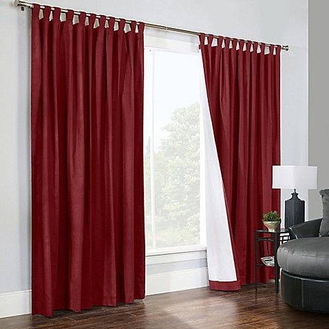 Thermalogicreg Weathermate 84 Inch Double Width Tab Top Window Curtain Panel Pair