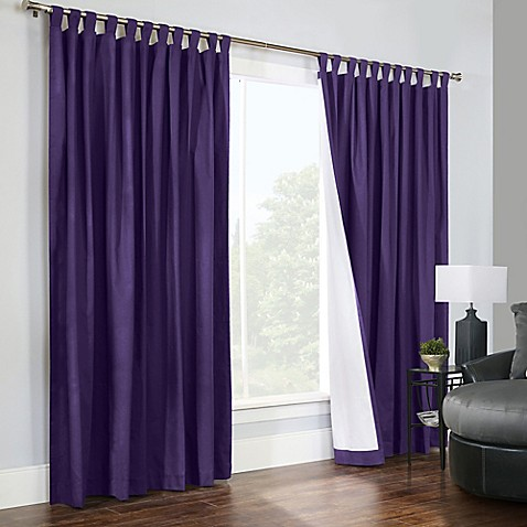 Thermalogic Weathermate 84 Inch Double Wide Tab Top Window Curtain Panel Pair Bed Bath Beyond