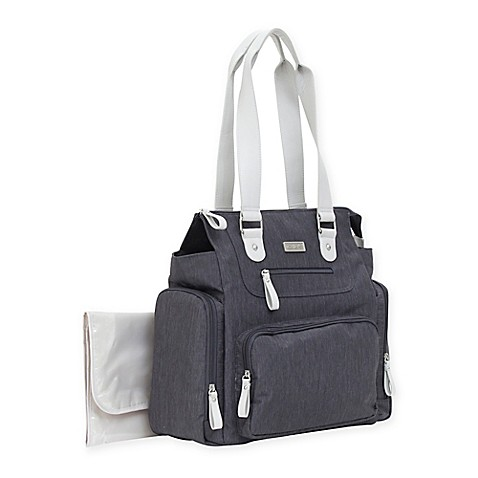 carter 39 s multi compartment diaper bag in dark grey buybuy baby. Black Bedroom Furniture Sets. Home Design Ideas