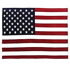 image of Tadpoles Large USA Flag Throw Blanket in Red, White and Blue
