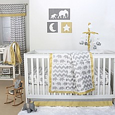 image of The Peanut Shell® Crib Bedding Collection in Grey/Yellow