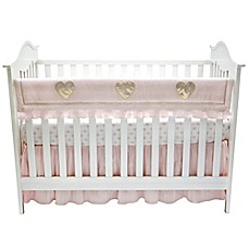 image of Lambs & Ivy® Sweetheart Rail Guard in Pink/Gold