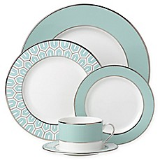 image of Brian Gluckstein by Lenox® Clara™ Aqua Dinnerware Collection