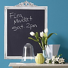 image of Framed Peel and Stick Chalkboard Wall Decal