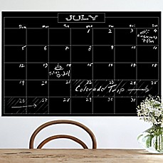 image of Wallies Peel & Stick Monthly Chalk Calendar Decal