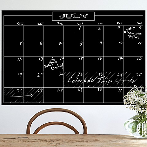 Wallies Peel U0026 Stick Monthly Chalk Calendar Decal