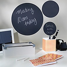 image of Wallies Peel & Stick 3-Piece Chalkboard Circles