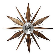 image of infinity instruments utopia midcentury modern vintage sunburst wall clock