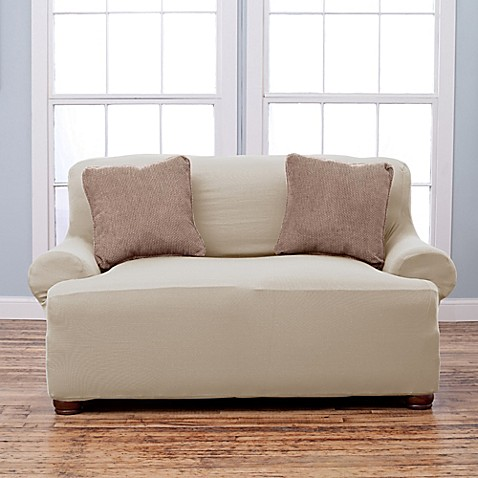 Lucia Love Corduroy Loveseat Slipcover Bed Bath Amp Beyond