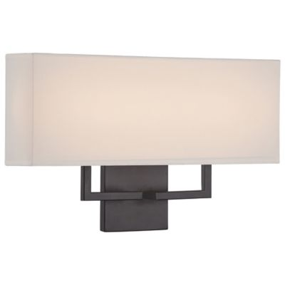 Bronze Wall Sconce With Fabric Shade : Buy George Kovacs 2-Light Wall Sconce in Bronze with Fabric Shade from Bed Bath & Beyond
