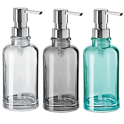 Good Image Of OGGI® Round Glass 12 Oz. Soap Dispenser