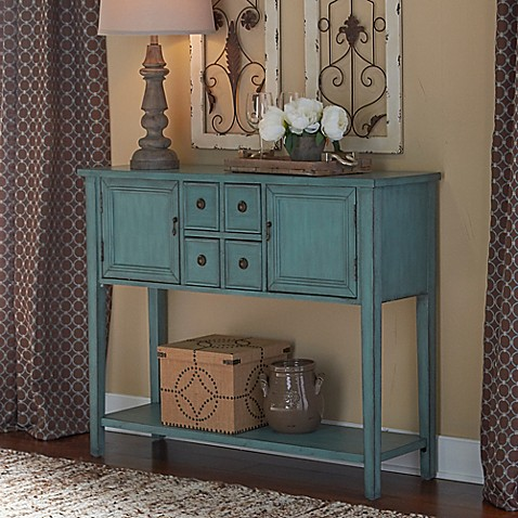 Duplin Console Table in Blue