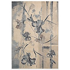 image of Nourison Somerset ST18 Rug in Ivory and Blue
