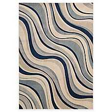 image of Nourison Somerset Rug in Ivory and Blue