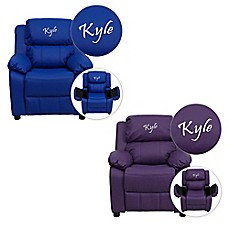 image of Flash Furniture Personalized Kids Recliner