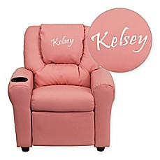 image of Flash Furniture Personalized Kids Recliner in Pink