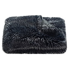 image of Safavieh Grizzly Throw Blanket in Midnight