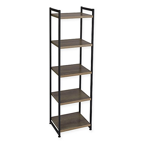 household essentials ashwood shelf storage tower bookcase bed bath beyond. Black Bedroom Furniture Sets. Home Design Ideas