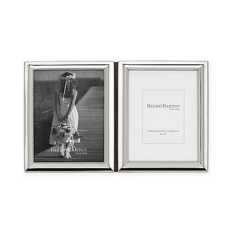 Reed & Barton® Capri Hinged Double Silverplate Picture Frame - Bed ...