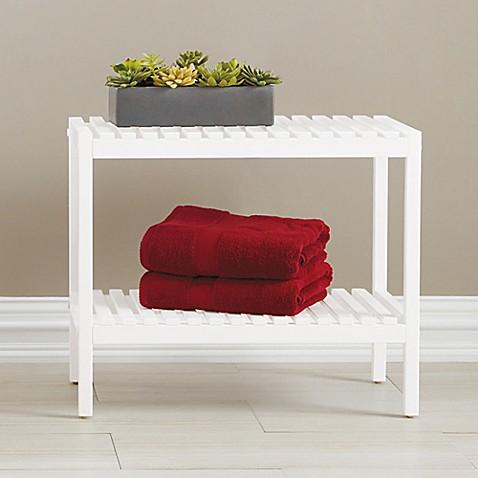 Bristol Birch Wood Bathroom Bench In White Bed Bath Beyond