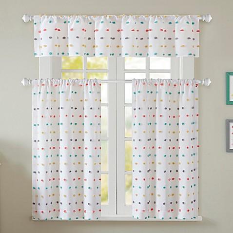 chloe window curtain panel and valance - bed bath & beyond