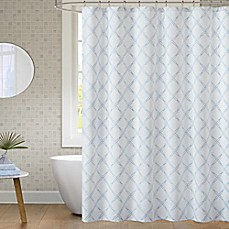 image of JLA Anthony Shower Curtain in Blue